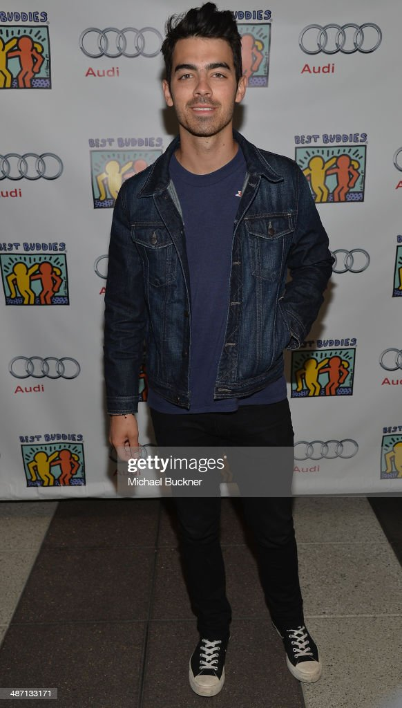 Musician <a gi-track='captionPersonalityLinkClicked' href=/galleries/search?phrase=Joe+Jonas&family=editorial&specificpeople=842712 ng-click='$event.stopPropagation()'>Joe Jonas</a> attends Audi Best Buddies' Bowling For Buddies at Lucky Strike Lanes at L.A. Live on April 27, 2014 in Los Angeles, California.