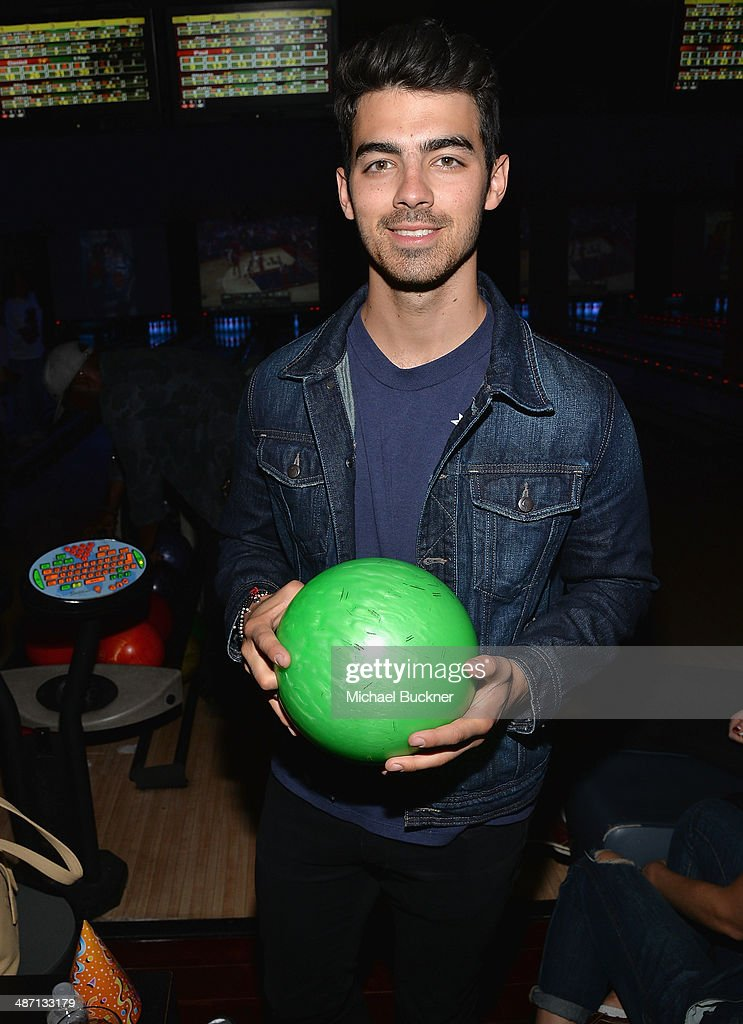 Musician Joe Jonas attends Audi Best Buddies' Bowling For Buddies at Lucky Strike Lanes at L.A. Live on April 27, 2014 in Los Angeles, California.