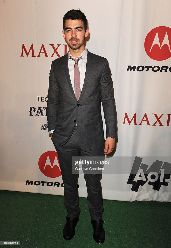 Musician Joe Jonas attends the Maxim Party Powered by Motorola Xoom at Centennial Hall at Fair Park on February 5, 2011 in Dallas, Texas.
