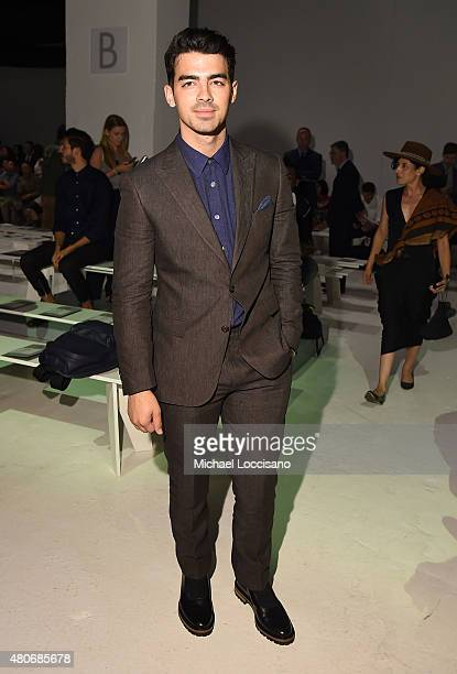 Musician Joe Jonas attends the Todd Snyder fashion show during New York Fashion Week Men's S/S 2016 at Skylight Clarkson Sq on July 14 2015 in New...