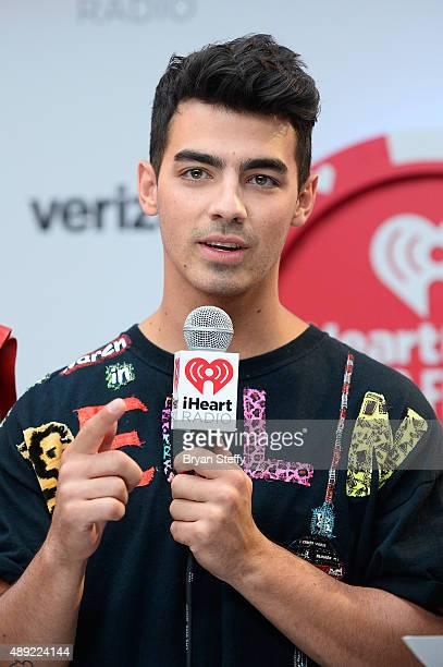 Musician Joe Jonas of DNC attends the 2015 iHeartRadio Music Festival at MGM Grand Garden Arena on September 19 2015 in Las Vegas Nevada
