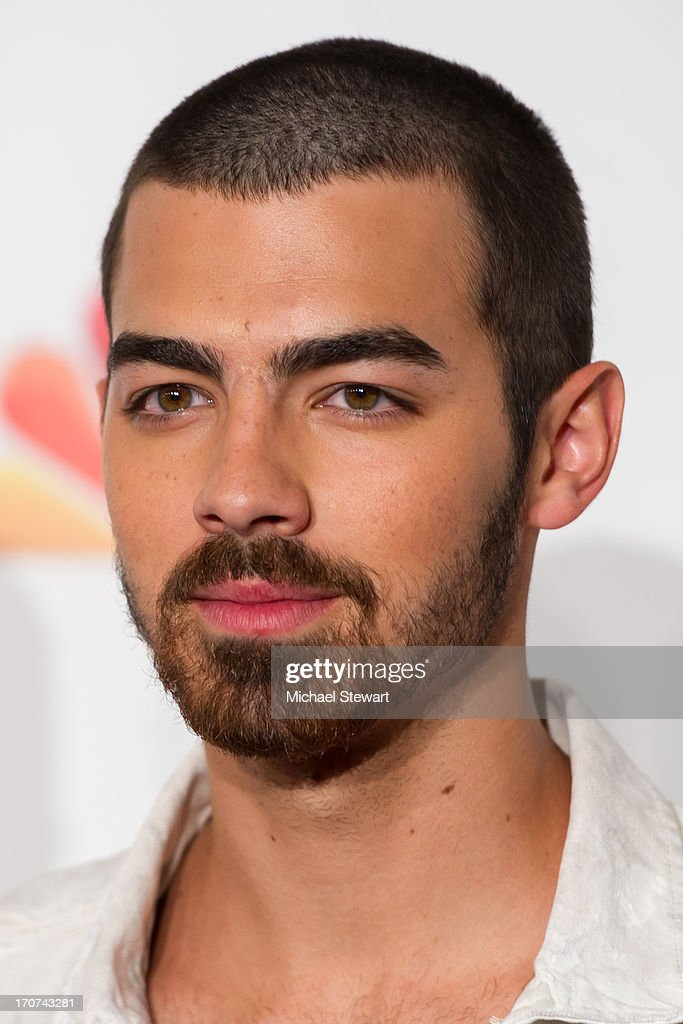 Musician <a gi-track='captionPersonalityLinkClicked' href=/galleries/search?phrase=Joe+Jonas&family=editorial&specificpeople=842712 ng-click='$event.stopPropagation()'>Joe Jonas</a> of the Jonas Brothers arrives at the 2013 Miss USA pageant at Planet Hollywood Resort & Casino on June 16, 2013 in Las Vegas, Nevada.