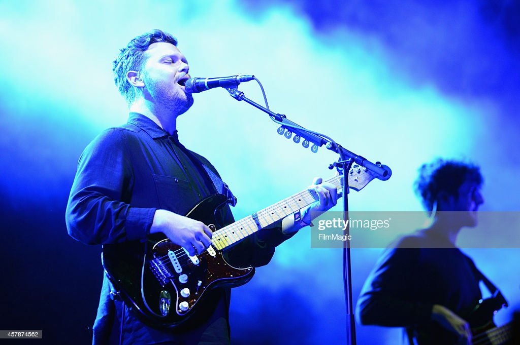 Musician Joe Newman of alt-J performs onstage during day 2 of the 2014 Life is Beautiful iestival on October 25, 2014 in Las Vegas, Nevada.