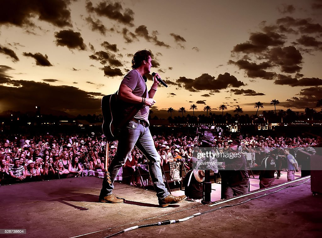Musician Joe Nichols performs onstage during 2016 Stagecoach California's Country Music Festival at Empire Polo Club on April 30, 2016 in Indio, California.