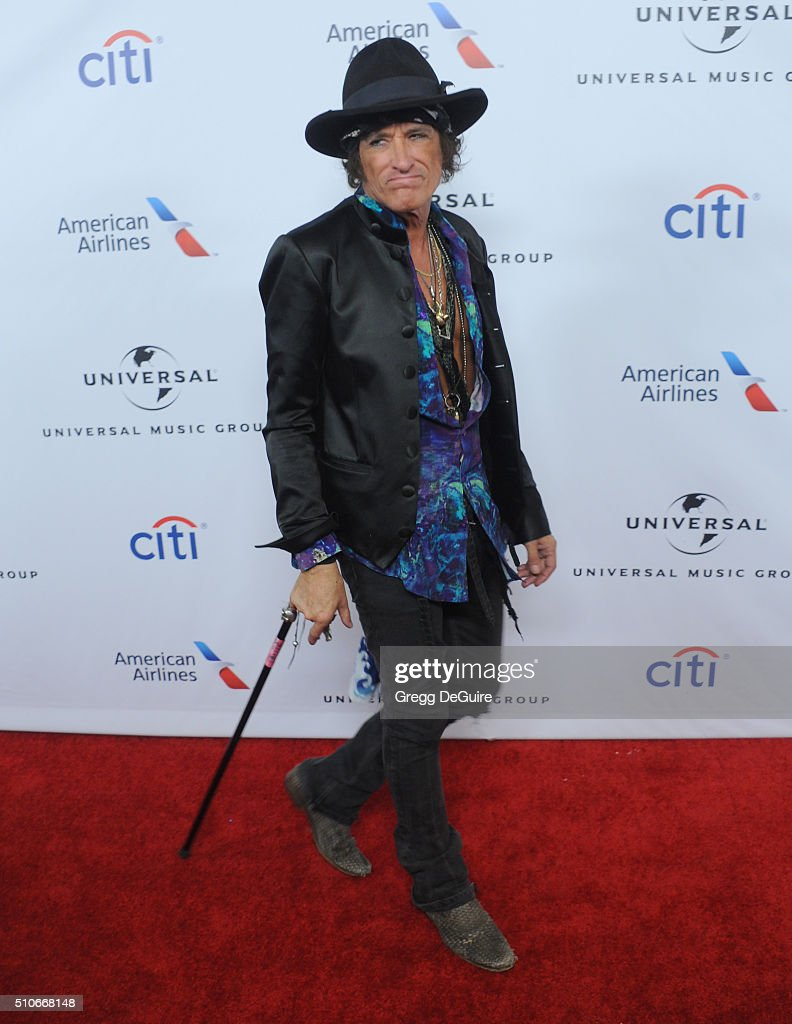Musician Joe Perry arrives at Universal Music Group's 2016 GRAMMY After Party at The Theatre At The Ace Hotel on February 15, 2016 in Los Angeles, California.