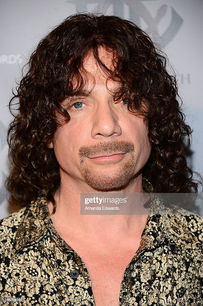 Musician Joe Retta of the band Heaven and Earth arrive at the Heaven and Earth 'Dig' world premiere album release party at The Fonda Theatre on April 10, 2013 in Los Angeles, California.