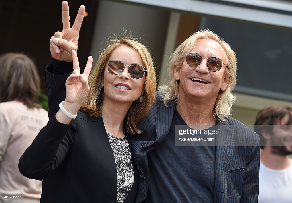 Musician Joe Walsh and Marjorie Bach attend Ringo Starr's birthday fan gathering at Capitol Records on July 7, 2015 in Hollywood, California.