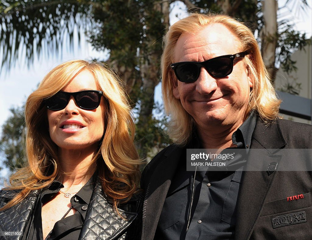 Musician Joe Walsh from the band the Eagles with his wife Marjorie Bach at the ceremony to unveil a Hollywood Walk of Fame star for the late recording artist Roy Orbison in Hollywood on January 29, 2010. AFP PHOTO/Mark RALSTON