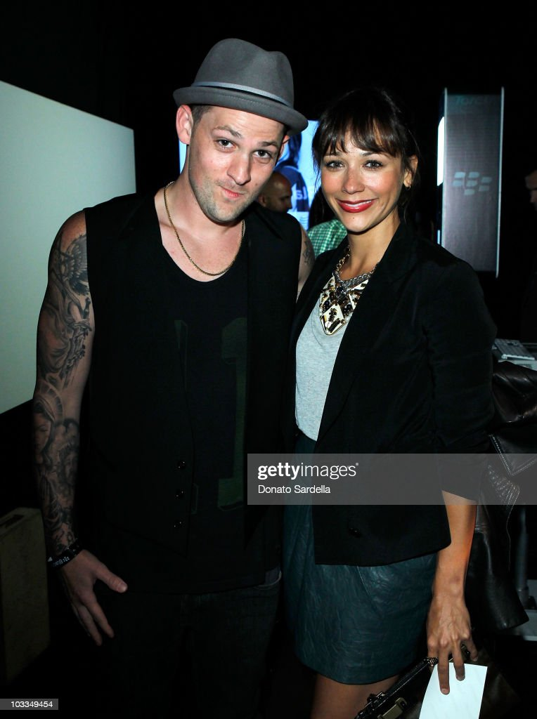 Musician Joel Madden and actress Rashida Jones attend the BlackBerry Torch from ATT US Launch Party on August 11 2010 in Los Angeles California