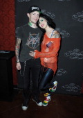 Musician Joel Thomas Zimmerman aka Deadmaus and personality Kat Von D Book attend a book signing for 'Go Big Or Go Home Taking Risks In Life Love And...