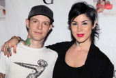 Musician Joel Zimmerman aka deadmaus and TV personality Kat Von D attend a Niecy Nash signing for her book 'It's Hard to Fight Naked' at the Luxe...