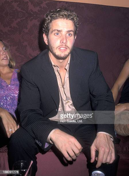 Musician Joey McIntyre attends the Landmark Club Restaurant Opening and Richard Belzer's Birthday Party on September 23 2000 at Landmark Club...