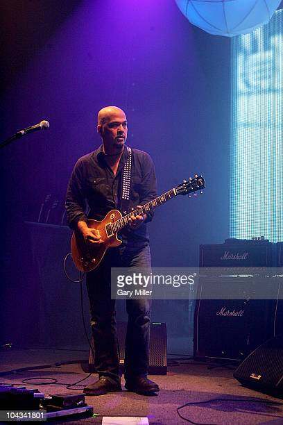 Musician Joey Santiago performs in concert with the Pixies at the Austin Music Hall on September 21 2010 in Austin Texas