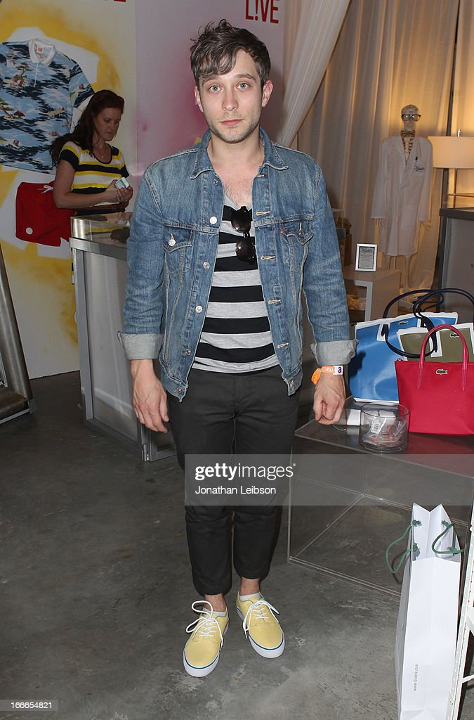 Musician John Baldwin Gourley of Portugal. The Man attends LACOSTE L!VE 4th Annual Desert Pool Party on April 14, 2013 in Thermal, California.
