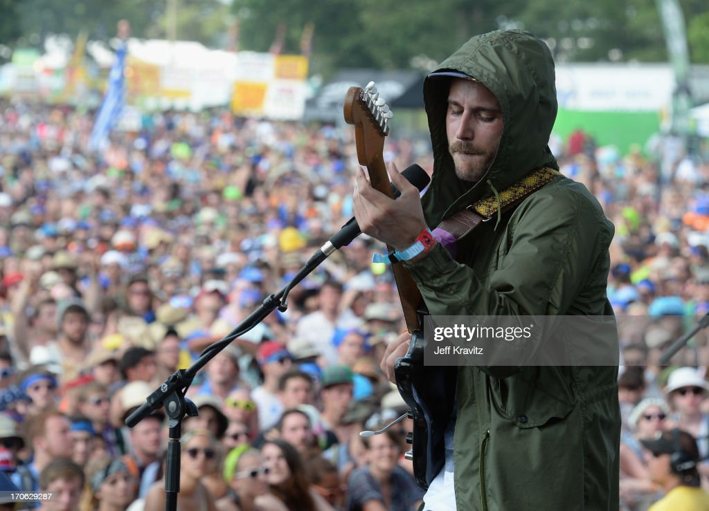 Musician John Baldwin Gourley of Portugal. The Man performs at Which Stage onstage during day 3 of the 2013 Bonnaroo Music & Arts Festival on June 15, 2013 in Manchester, Tennessee.