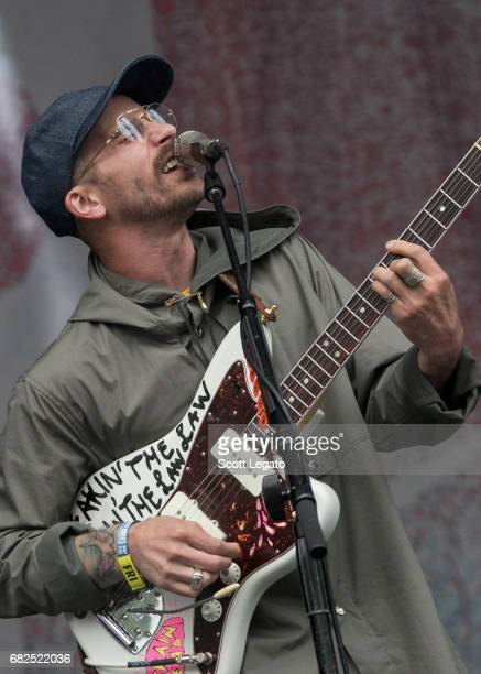 Musician John Baldwin Gourley of Portugal The Man performs during day 1 of Shaky Knees Festival at Centennial Olympic Park on May 12 2017 in Atlanta...