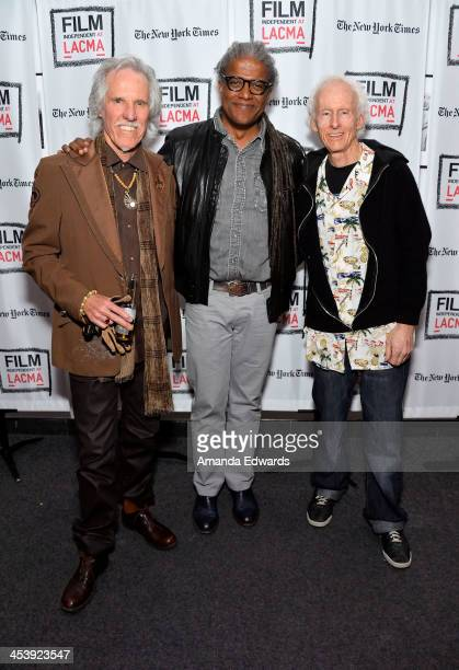 Musician John Densmore Film Independent at LACMA film curator Elvis Mitchell and musician Robby Krieger attend the Film Independent at LACMA Presents...