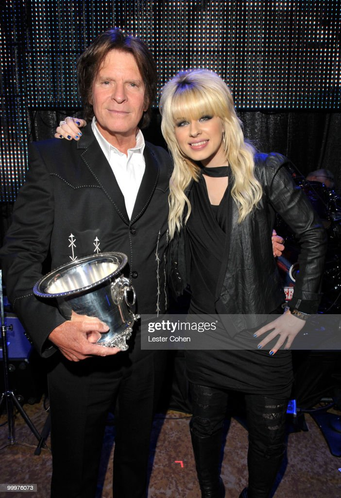 Musician John Fogerty and singer Orianthi pose during the 58th Annual BMI Pop Awards held at the Beverly Wilshire Hotel on May 18, 2010 in Beverly Hills, California.