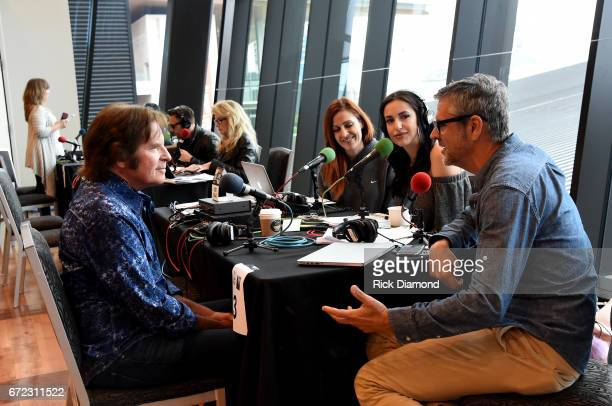 Musician John Fogerty is interviewed during radio remotes at the Brad Paisley LOVE AND WAR Album Launch and 2017 Sarah Cannon Band Against Cancer...
