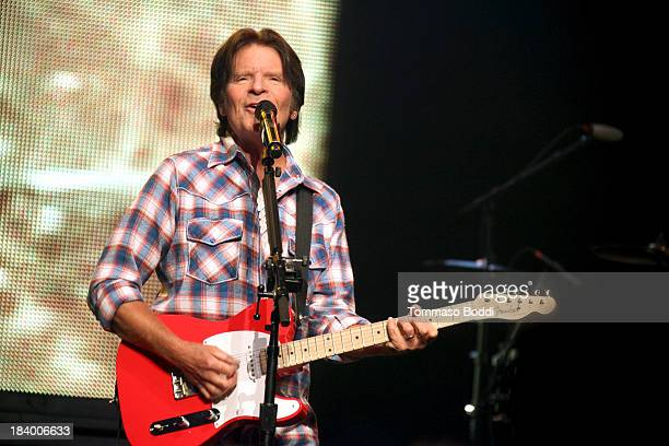 Musician John Fogerty performs at Nokia Theatre LA Live on October 10 2013 in Los Angeles California