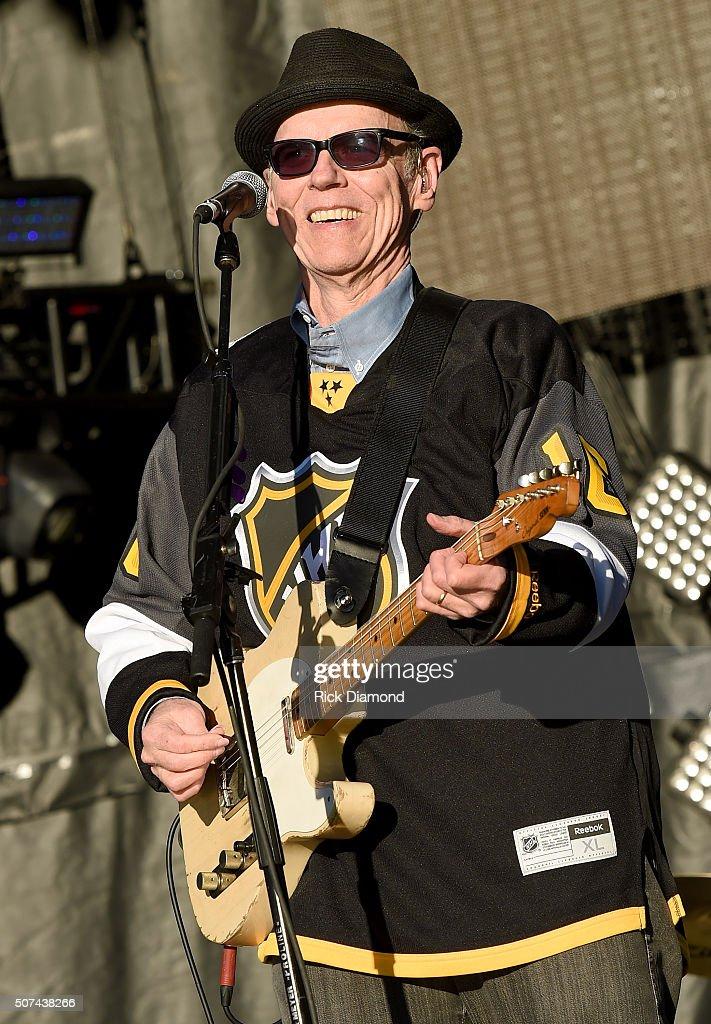 Musician John Hiatt performs onstage during NHL AllStar Winter Park Nashville 2016 Day 2 on January 29 2016 in Nashville Tennessee