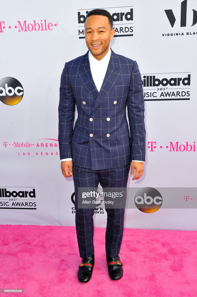 Musician John Legend arrives at 2017 Billboard Music Awards at T-Mobile Arena on May 21, 2017 in Las Vegas, Nevada.