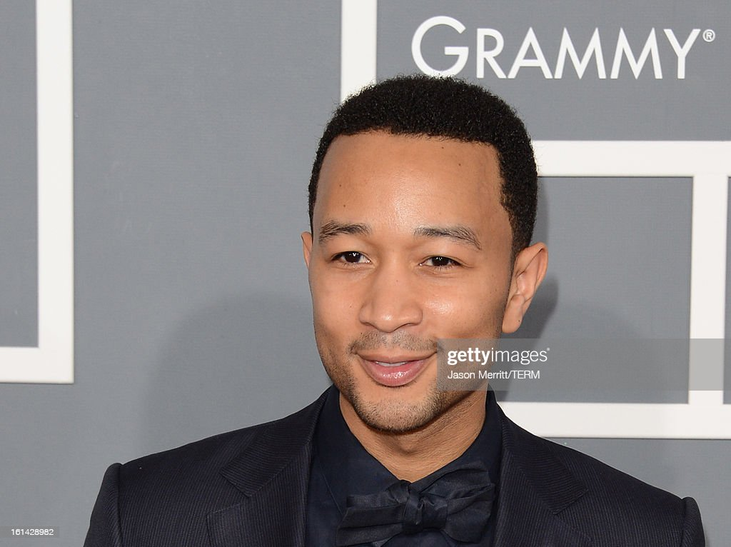 Musician John Legend arrives at the 55th Annual GRAMMY Awards at Staples Center on February 10, 2013 in Los Angeles, California.