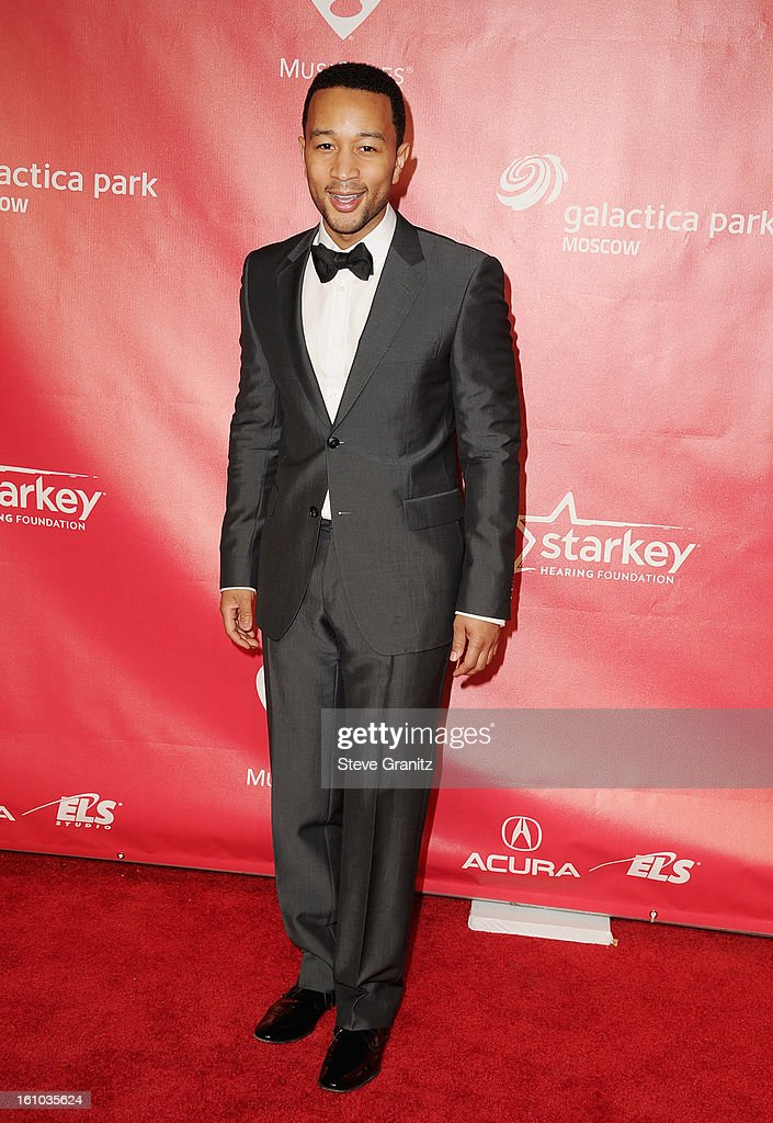 Musician John Legend attends MusiCares Person Of The Year Honoring Bruce Springsteen at Los Angeles Convention Center on February 8, 2013 in Los Angeles, California.