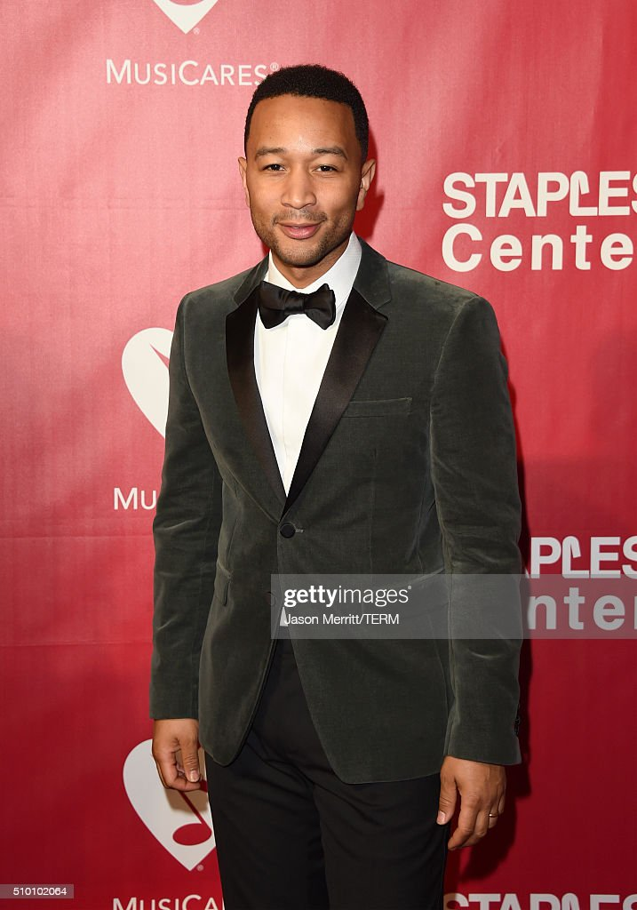 Musician John Legend attends the 2016 MusiCares Person of the Year honoring Lionel Richie at the Los Angeles Convention Center on February 13, 2016 in Los Angeles, California.