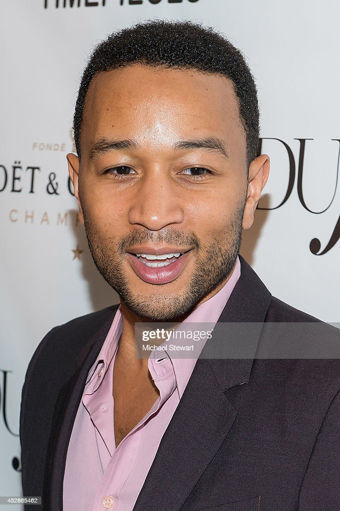 Musician <a gi-track='captionPersonalityLinkClicked' href=/galleries/search?phrase=John+Legend&family=editorial&specificpeople=201468 ng-click='$event.stopPropagation()'>John Legend</a> attends the DuJour celebration of cover star Chrissy Teigen at NYY Steak Manhattan on July 28, 2014 in New York City.