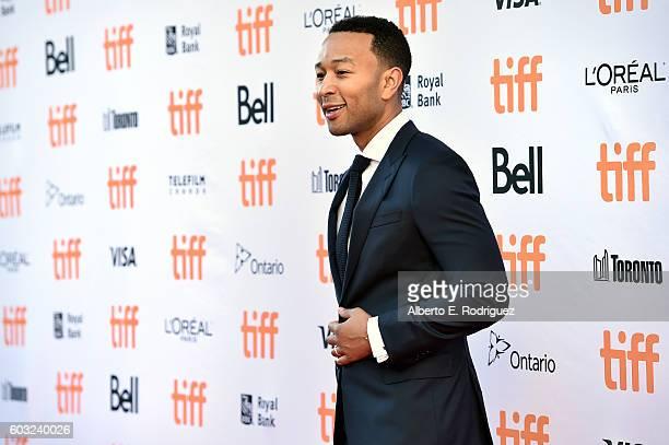 Musician John Legend attends the 'La La Land' Premiere during the 2016 Toronto International Film Festival at Princess of Wales Theatre on September...