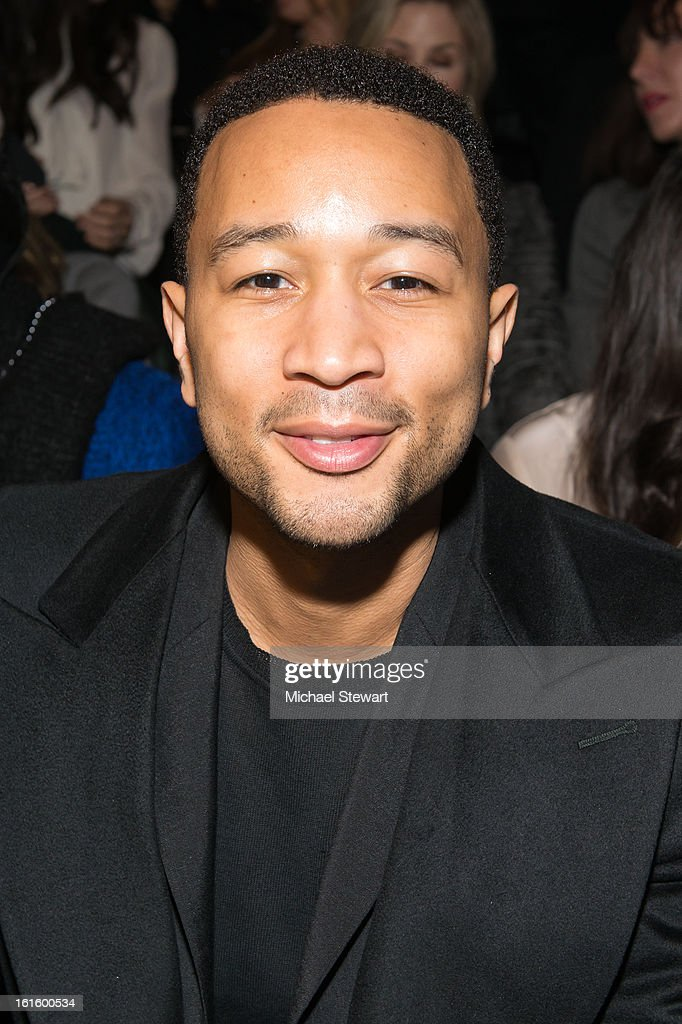 Musician John Legend attends Vera Wang during fall 2013 Mercedes-Benz Fashion Week at The Stage at Lincoln Center on February 12, 2013 in New York City.