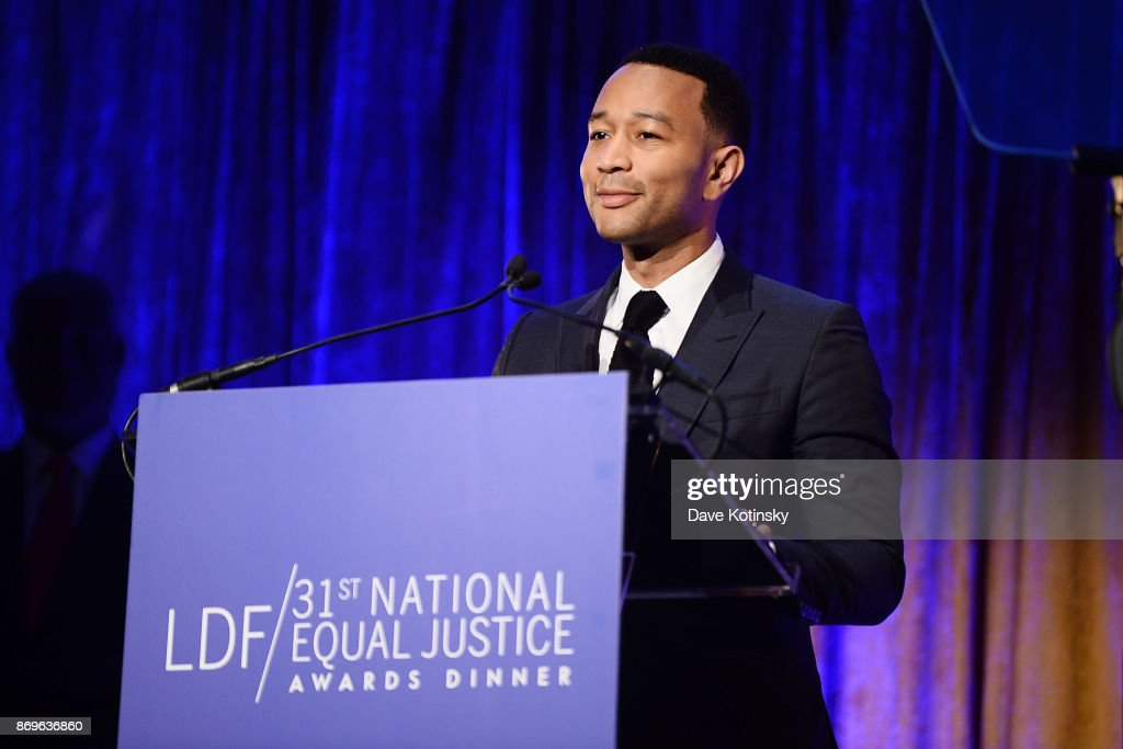 Musician John Legend on stage during the the LDF 31th National Equal Justice Awards Dinner at Cipriani 42nd Street on November 2, 2017 in New York City.