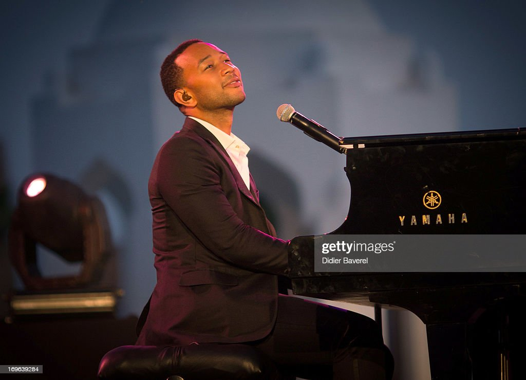 Musician <a gi-track='captionPersonalityLinkClicked' href=/galleries/search?phrase=John+Legend&family=editorial&specificpeople=201468 ng-click='$event.stopPropagation()'>John Legend</a> performing on stage at the IC Banker of the Year Awardsat the Taj Palace on May 29, 2013 in Marrakech, Morocco.