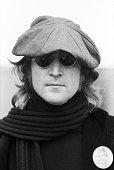 Musician John Lennon poses for a portrait on October 25 1974 in New York City New York