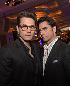 Musician John Mayer and actor John Stamos attend the 'Cool Comedy Hot Cuisine' To Benefit The Scleroderma Research Foundation benefit at the Beverly...