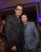 Musician John Mayer and actor Kevin Connolly attend the 'Cool Comedy Hot Cuisine' To Benefit The Scleroderma Research Foundation benefit at the...