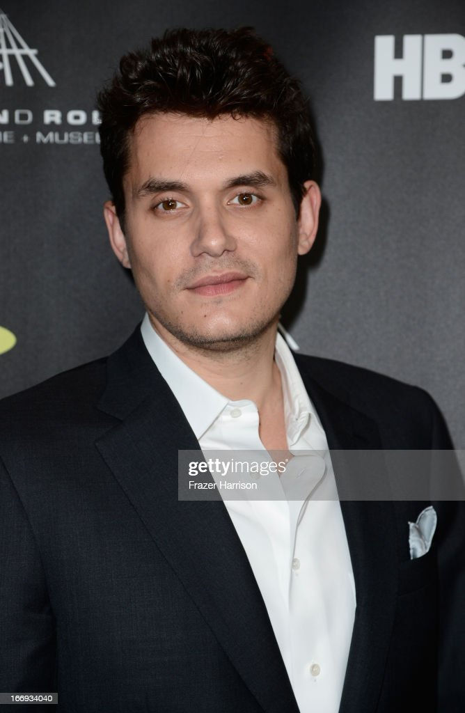 Musician <a gi-track='captionPersonalityLinkClicked' href=/galleries/search?phrase=John+Mayer&family=editorial&specificpeople=201930 ng-click='$event.stopPropagation()'>John Mayer</a> attends the 28th Annual Rock and Roll Hall of Fame Induction Ceremony at Nokia Theatre L.A. Live on April 18, 2013 in Los Angeles, California.
