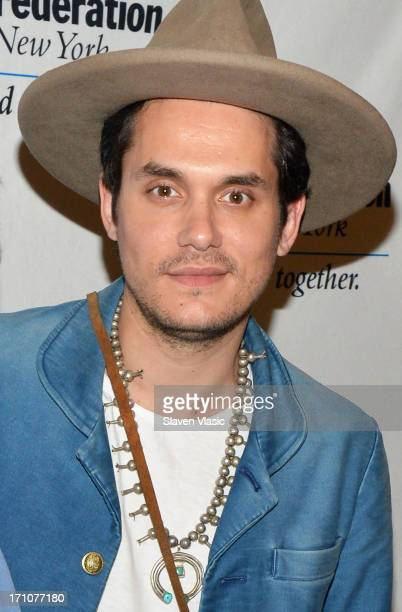 Musician John Mayer attends UJAFederation Of New York Music Visionary Of The Year Award Luncheon at The Pierre Hotel on June 21 2013 in New York City