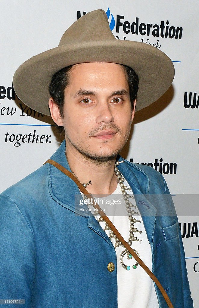 Musician <a gi-track='captionPersonalityLinkClicked' href=/galleries/search?phrase=John+Mayer&family=editorial&specificpeople=201930 ng-click='$event.stopPropagation()'>John Mayer</a> attends UJA-Federation Of New York Music Visionary Of The Year Award Luncheon at The Pierre Hotel on June 21, 2013 in New York City.