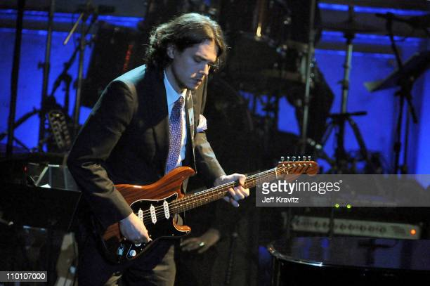 Musician John Mayer performs onstage at the 26th annual Rock and Roll Hall of Fame Induction Ceremony at The Waldorf=Astoria on March 14 2011 in New...