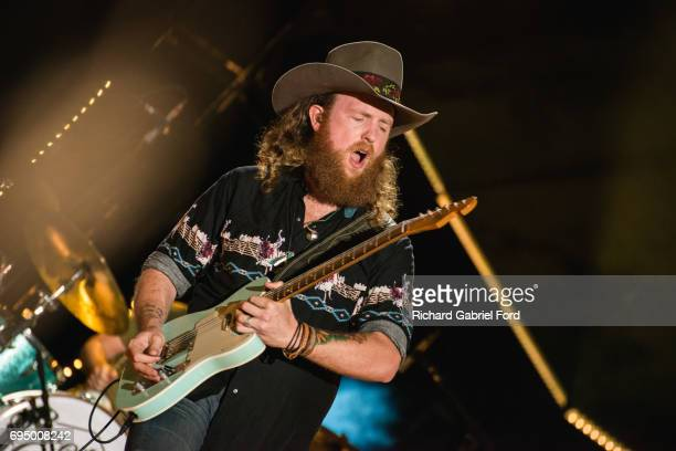 Musician John Osborne of Brothers Osborne performa at Nissan Stadium during day 4 of the 2017 CMA Music Festival on June 11 2017 in Nashville...