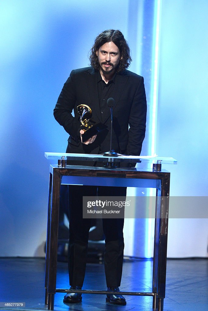 Musician <a gi-track='captionPersonalityLinkClicked' href=/galleries/search?phrase=John+Paul+White&family=editorial&specificpeople=2122463 ng-click='$event.stopPropagation()'>John Paul White</a> of The Civil Wars onstage during the 56th GRAMMY Awards Pre-Telecast at Nokia Theatre L.A. Live on January 26, 2014 in Los Angeles, California.
