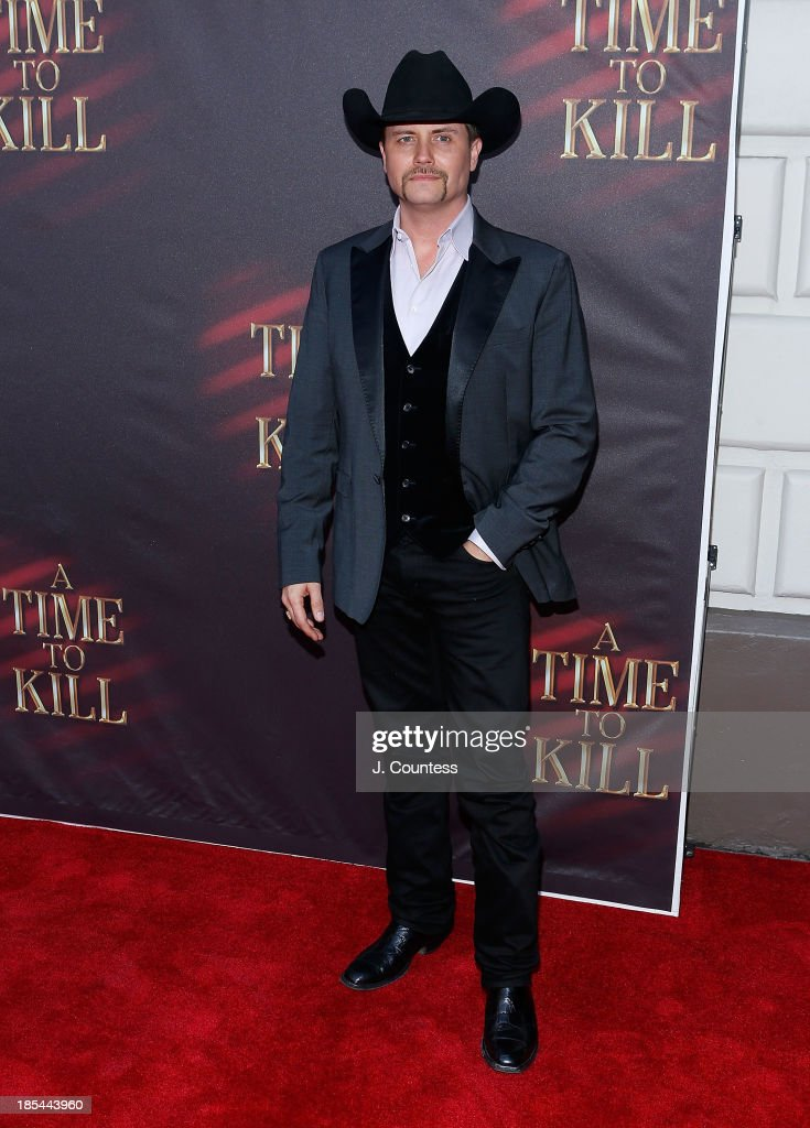 Musician <a gi-track='captionPersonalityLinkClicked' href=/galleries/search?phrase=John+Rich+-+Singer&family=editorial&specificpeople=211184 ng-click='$event.stopPropagation()'>John Rich</a> attends the Broadway opening night of 'A Time To Kill' at The Golden Theatre on October 20, 2013 in New York City.