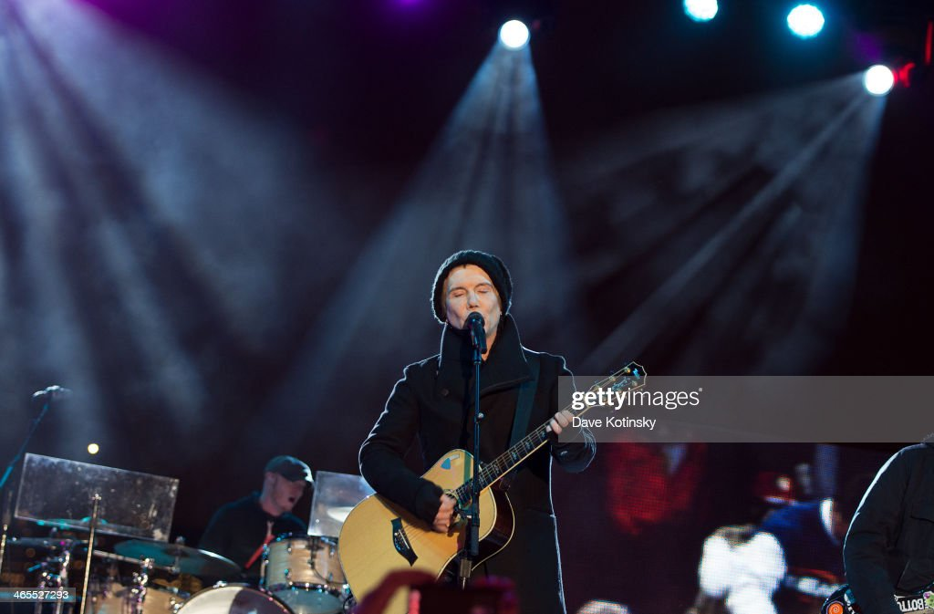 Musician John Rzeznik of Goo Goo Dolls performs at Liberty State Park on January 27 2014 in Jersey City New Jersey