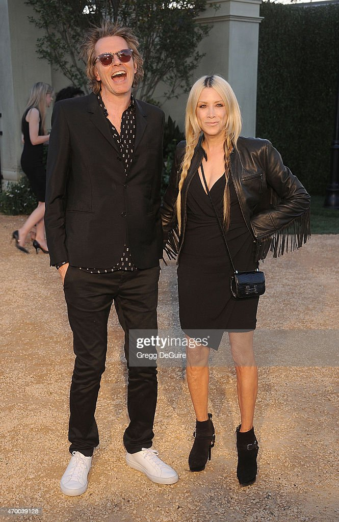 Musician John Taylor and Gela Nash attend the Burberry 'London in Los Angeles' event at Griffith Observatory on April 16, 2015 in Los Angeles, California.