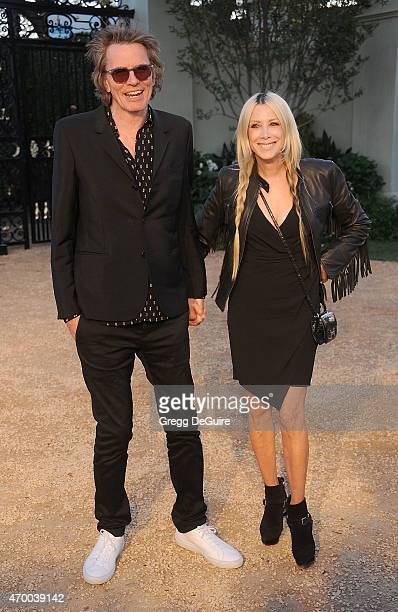 Musician John Taylor and Gela Nash attend the Burberry 'London in Los Angeles' event at Griffith Observatory on April 16 2015 in Los Angeles...