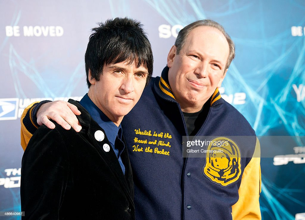 Musician <a gi-track='captionPersonalityLinkClicked' href=/galleries/search?phrase=Johnny+Marr&family=editorial&specificpeople=3947211 ng-click='$event.stopPropagation()'>Johnny Marr</a> and composer <a gi-track='captionPersonalityLinkClicked' href=/galleries/search?phrase=Hans+Zimmer&family=editorial&specificpeople=243005 ng-click='$event.stopPropagation()'>Hans Zimmer</a> attend 'The Amazing Spider-Man 2' premiere at the Ziegfeld Theater on April 24, 2014 in New York City.