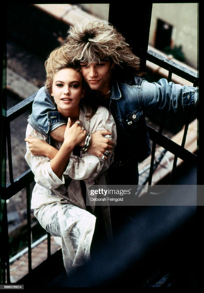Musician Jon Bon Jovi and actress Diane Lane pose for a portrait in 1985 in New York City, New York.