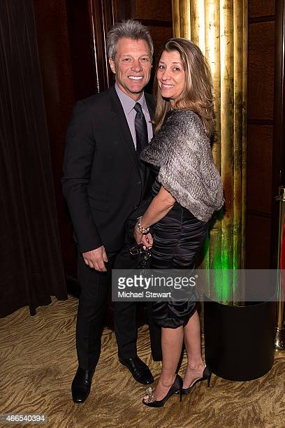 Musician Jon Bon Jovi and Dorothea Bon Jovi attend the 5th Annual Irish Eyes Gala at JW Marriott Essex House on March 16 2015 in New York City